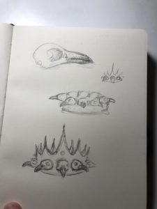 raven skull and crown